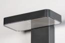 Wandlamp 13949: modern, kunststof, acrylaat kunststofglas, antraciet donkergrijs #6
