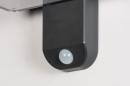 Wandlamp 13949: modern, kunststof, acrylaat kunststofglas, antraciet donkergrijs #8