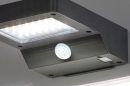 Wandlamp 13951: modern, kunststof, acrylaat kunststofglas, antraciet donkergrijs #5