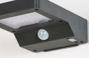 Wandlamp 13951: modern, kunststof, acrylaat kunststofglas, antraciet donkergrijs #6