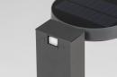 Buitenlamp 13953: modern, staal rvs, antraciet donkergrijs, langwerpig #7