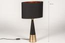 Tafellamp 13955: modern, eigentijds klassiek, stof, metaal #1