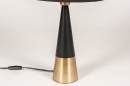 Tafellamp 13955: modern, eigentijds klassiek, stof, metaal #9