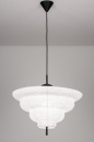 Hanglamp 13977: design, modern, wit, rond #1