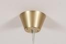 Hanglamp 13994: design, art deco, glas, wit opaalglas #6