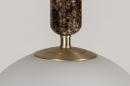 Hanglamp 13995: design, art deco, glas, wit opaalglas #5