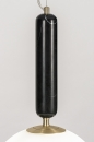 Hanglamp 13997: design, art deco, glas, wit opaalglas #4