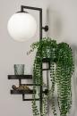 Wandlamp 14008: modern, glas, wit opaalglas, metaal #1