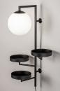 Wandlamp 14008: modern, glas, wit opaalglas, metaal #3