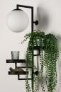 Wandlamp 14008: modern, glas, wit opaalglas, metaal #5