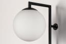 Wandlamp 14008: modern, glas, wit opaalglas, metaal #7