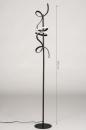 Vloerlamp 14018: modern, eigentijds klassiek, metaal, zwart #1