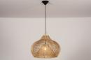 Hanglamp 14043: modern, retro, riet, hout #1