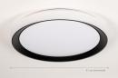 Plafondlamp 14071: modern, kunststof, zwart, mat #1