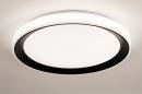 Plafondlamp 14071: modern, kunststof, zwart, mat #2