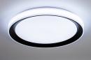 Plafondlamp 14071: modern, kunststof, zwart, mat #4
