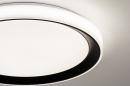 Plafondlamp 14071: modern, kunststof, zwart, mat #8