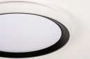 Plafondlamp 14071: modern, kunststof, zwart, mat #9