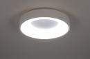 Plafondlamp 14096: modern, kunststof, metaal, wit #1