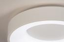 Plafondlamp 14096: modern, kunststof, metaal, wit #3