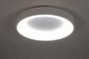 Plafondlamp 14098: modern, kunststof, metaal, wit #2