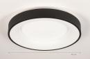 Plafondlamp 14099: modern, kunststof, metaal, zwart #1