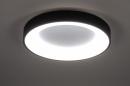 Plafondlamp 14099: modern, kunststof, metaal, zwart #2