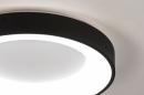 Plafondlamp 14099: modern, kunststof, metaal, zwart #3