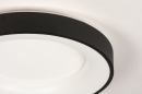 Plafondlamp 14099: modern, kunststof, metaal, zwart #4