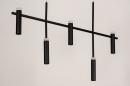 Hanglamp 14135: design, modern, metaal, zwart #7