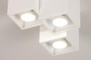 Plafondlamp 14141: modern, metaal, wit, mat #5