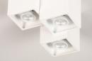 Plafondlamp 14141: modern, metaal, wit, mat #6