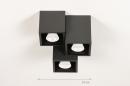 Plafondlamp 14142: modern, metaal, zwart, mat #1