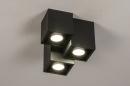 Plafondlamp 14142: modern, metaal, zwart, mat #2
