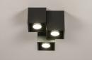 Plafondlamp 14142: modern, metaal, zwart, mat #3