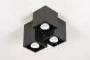 Plafondlamp 14142: modern, metaal, zwart, mat #4