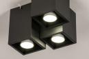 Plafondlamp 14142: modern, metaal, zwart, mat #5