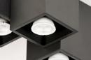 Plafondlamp 14142: modern, metaal, zwart, mat #7