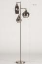 Vloerlamp 14152: modern, eigentijds klassiek, glas, staal rvs #1