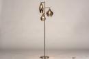 Vloerlamp 14152: modern, eigentijds klassiek, glas, staal rvs #2
