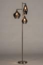 Vloerlamp 14152: modern, eigentijds klassiek, glas, staal rvs #3
