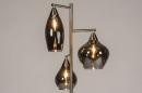 Vloerlamp 14152: modern, eigentijds klassiek, glas, staal rvs #4