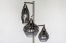 Vloerlamp 14152: modern, eigentijds klassiek, glas, staal rvs #6