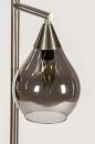 Vloerlamp 14152: modern, eigentijds klassiek, glas, staal rvs #8