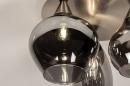 Plafondlamp 14153: modern, eigentijds klassiek, glas, staal rvs #6