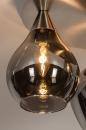 Plafondlamp 14153: modern, eigentijds klassiek, glas, staal rvs #7