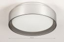 Plafondlamp 14167: modern, eigentijds klassiek, glas, wit opaalglas #1