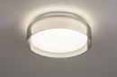 Plafondlamp 14167: modern, eigentijds klassiek, glas, wit opaalglas #2