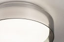 Plafondlamp 14167: modern, eigentijds klassiek, glas, wit opaalglas #3