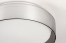 Plafondlamp 14167: modern, eigentijds klassiek, glas, wit opaalglas #4